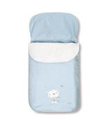 pirulos 45013013 – Sack Trolley, Bear Star, Cotton, 48 x 82 cm, White and Blue