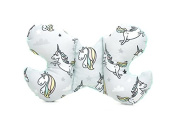 Milutka baby butterfly pillow head support for baby car/stroller MINKY unicorn MINT