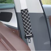 kkmoon 2pcs Car Mode PU Interior Accessories Adjustable Safety Belt Seatbelt Shoulder Protective Soft PU Leather épaulières Vehicle Cover Decoration
