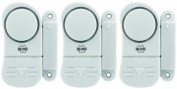 NRS Healthcare ELRO Magnetic Door and Window Alarm - Pack of 3