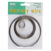 Beadsmith Memory Wire Black Oxide 10 Loops 5 Sizes