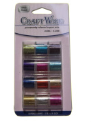 Pack of 12 - 0.32mm x 4.6m Mixed Colour Craft Wire - 28 Gauge
