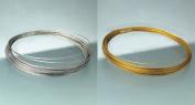 Schmuckdraht nylonummantelt 0,40mmx4m silberfarben
