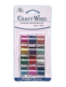 Pack of 12 - 0.81mm x 2.74m Mixed Colour Craft Wire - 20 Gauge