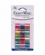 Pack of 12 - 0.64mm x 4.6m Mixed Colour Craft Wire - 22 Gauge