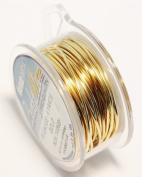 Beadsmith 0.3mm (28ga) Non-Tarnish Craft Wire - Gold - 13.5m