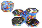 52 Pcs Craft Art Artists Hexagonal Box Crayons Paints Pens Pencils Set Great Gift For Kids by Guilty Gadgets