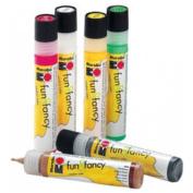 Marabu Window Colour Fun and Fancy Peel Off Paint 25ml Orange