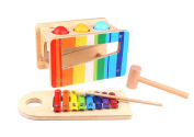 Pound & Tap Bench 2 in 1 with Slide Out Xylophone Wooden Educational Musical Instrument Toy *Premium Quality* Sameday Dispatch-TKC122-S6