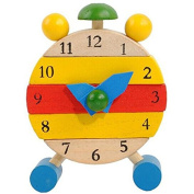 Brydon For . Old Baby,Hand Made Wooden Clock Toys for Kids Learn Time Clock Educational Toys