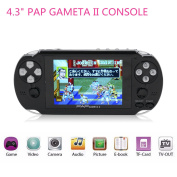 Portable handheld Consoles,HLZK 64Bit Classic Retro Video Games Players 11cm PAP GametaII Plus With 600 Games Birthday Presents for Kids Children