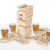 LETTUCE EAT ® TUMBLE TIPSY TOWER SHOTS DRINKING GAME JENGA ADULT DRINK GLASSES PARTY 3846