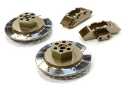 Integy RC Model Hop-ups C26454GREY Realistic Alloy Machined Front Brake Hex Hub Set for HPI 1/10 Scale E10 On-Road