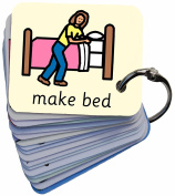 Morning Routine Picture Exchange Communication Keyring (AAC / ASD) Visual Aid Resource