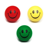 bismarckbeer Fiddle Toys Cute Smiley Face Stress Ball Finger ADHD Autism Relax Squeeze Toy size 3 Pcs