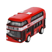 Winkey Funny Kids Toy ,Pull Back Bus Collection Model Double-decker Bus Alloy Die Cast City Bus For Kid,Colour Random