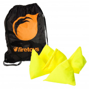 Tri-Its UV Juggling Beanbag Set - 5x UV Yellow Juggling Pyramids & Firetoys Bag