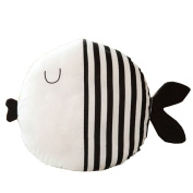 Comfysail Kiss Fish Shape Pillow Soft Stuffed Cushion Cuddly Children Toy for Home Bed Sofa Office Decoration