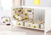 Ready Steady Bed® Diggers Design Nursery Cot Bumper Bedding Set