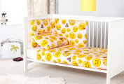 Ready Steady Bed® Emoji Girl Design Nursery Cot Bumper Bedding Set