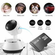 Wireless WiFi IP Camera Home Baby Security Monitor Wifi Network Connect Intelligent Surveillance Camera Radiationless with 32G TF Card