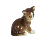 Brown Kitten Lomonosov Imperial Porcelain Collectible Realistic Figurine Cat Kittie Assorted Collection