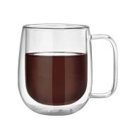 Glass Mug,Sundlight Insulated Double Wall Glass Coffee Mugs or Tea Cups for Espresso,Latte,Cappuccino,Milk