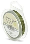 Artistic Wire 40 yd 28 Gauge Wire, Olive