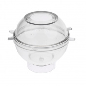 Sharplace Round Sphere Shaped Candle Mould For DIY Soap Candle Making Craft - 8cm
