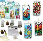 Glass Painting Candle Making Arts & Craft Kit Christmas Birthday Present Gift Ideas