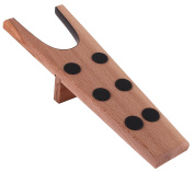 Boot jack made in Germany, genuine, solid, untreated beech wood with 6 non-slip rubber dots