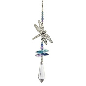 Crystal Fantasy Hanging Suncatcher/Rainbow Maker + 38mm Icicle - DRAGONFLY