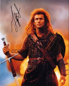 LIMITED EDITION MEL GIBSON BRAVEHEART SIGNED PHOTOGRAPH + CERT PRINTED AUTOGRAPH