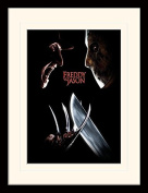 """Freddy Vs Jason """"Face Off"""" Mounted and Framed Print, Multi-Colour, 30 x 40 cm"""