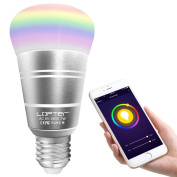 Smart WiFi Light, LOFTer E27 RGBW Colour Changing Dimmable Mood Lamp LED Party Blub Timing Function Lighting, Works with Amazon Alexa and Google Home, Remote Controlled by IOS/Android Smartphone