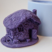 Silicone Mould for Craftsmanship - Creating Candles or Objects - Great Stone House / Farm For Nativity.