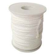 Homankit 24 Ply Braided Cotton Candle Wicks / 61 Metres Candle Wick Spool for Candle Making and Candle DIY