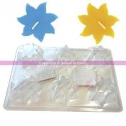 6 Flower 7 Petal Tealight Holder, Candle, Soap mould, Ø 6 cm
