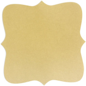 Adorn-It Art Play MDF Bracket Shaped Surface for Candle Making, 28cm