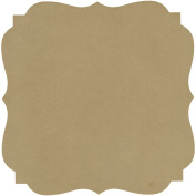 Adorn-It Art Play MDF Pointed Bracket Shaped Surface for Candle Making, 25cm