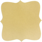Adorn-It Art Play MDF Bracket Shaped Surface for Candle Making, 25cm