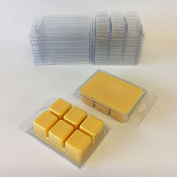 WHICKSNWHACKS ® 10 Clear Plastic CLAM SHELL Wax Melts Boxes