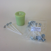 WHICKSNWHACKS ® 25 x LX12 Ecosoy Pre-waxed and Tabbed VOTIVE WICKS 80mm long approx.