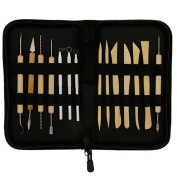 Bodhi2000 14 Pcs Pottery Sculpture DIY Clay Modelling Shaping Tools Set with Black Case