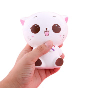 Soft Toys,Familizo Squishy Kitty Cat Slow Rising Soft Pinch Stress Reliever Kids Gifts ecompression Cure Dolls