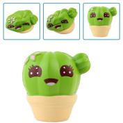 Soft Toys,Familizo Cute Squishy Cactus Cream Scented Slow Rising Squeeze Strap Kids Gifts ecompression Cure Dolls