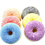 Soft Toys,Familizo Squishy Squeeze Stress Reliever Soft Dolls Colourful Doughnut Scented Slow Rising Gifts