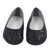 Glitter Dolls Shoes Fashion Dress Shoe For 46cm Our Generation American Girl Doll Toy