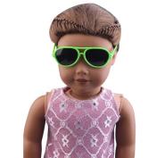 Dolls Glasses, Stylish Plastic Frame Glasses Sunglasses For 46cm American Girl Doll
