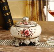 YUYUAN European retro embossed ceramic crafts modern home decorations ideas ashtray